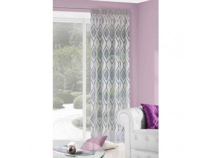 Dekorační vzorovaná záclona LAPI 140x250 cm MyBestHome