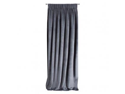 Dekorační závěs s řasící páskou MONNA tmavě šedá 140x270 cm MyBestHome