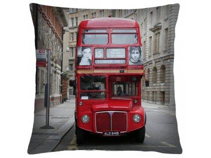 Polštář LONDON BUS Mybesthome 40x40 cm