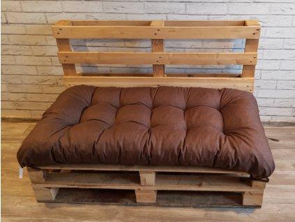 Paletové prošívané sezení - sedák 120x60 cm - 120x50 cm, barva hnědá, Mybesthome