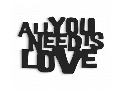 3D DECOR ALL NEEDS LOVE černá 40x60 cm Styler