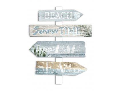 DECOR SIGN - BEACH 40x50 cm Styler