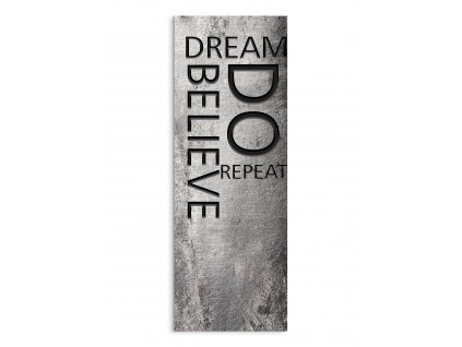 DECOR SIGN - BELIEVE 25x70 cm Styler
