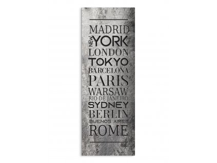 DECOR SIGN - CITIES LOFT 25x70 cm Styler