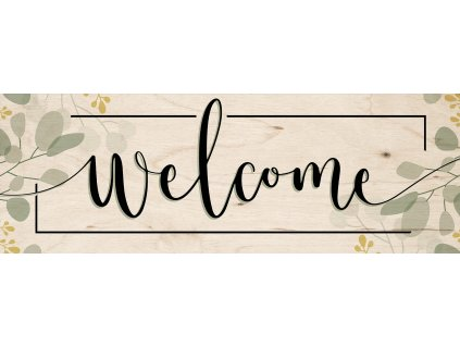 DECOR SIGN - WELCOME LEAVES 25x70 cm Styler