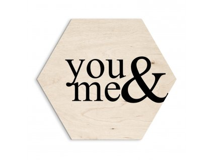 DECOR HEXAGON - YOU & ME 30x30 cm Styler