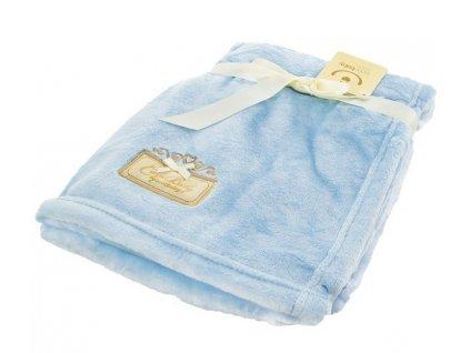 Dětská mikrovláknová deka CUTE BABY modrá 76x102 cm Bobobaby