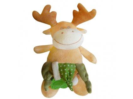 Dětská plyšová hračka LOS s kousátkem a chrastítkem 20x15 cm