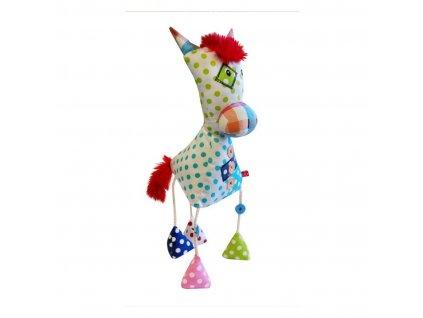 Dětská originální patchvorková hračka KONÍK 35 cm