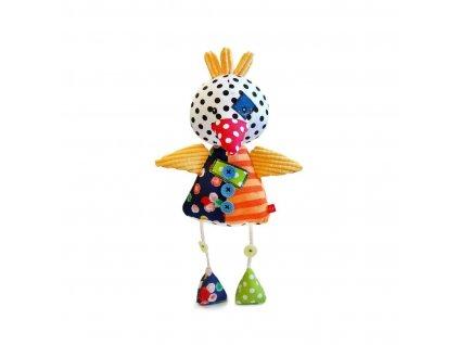 Dětská originální patchvorková hračka PTÁČEK 35 cm