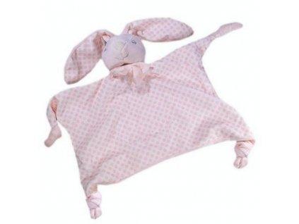 Usínáček pro miminka KRÁLÍČEK růžová 24X30 cm