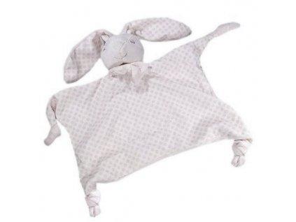Usínáček pro miminka KRÁLÍČEK šedá 24X30 cm