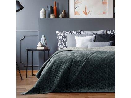 Přehoz na postel LEILA 220x240 cm grafitová/stříbrná Mybesthome