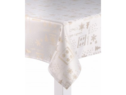 Ubrus XMAS FREEZE, 110x160 cm, 130x180 cm, zlatá, motiv B, ESSEX