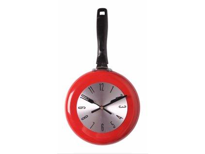 Nástěnné hodiny PÁNVIČKA červená 20X38 cm Mybesthome