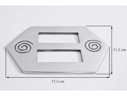 Dekorační ozdobná spona na závěsy AIKA 17,5x11,5 cm Mybesthome