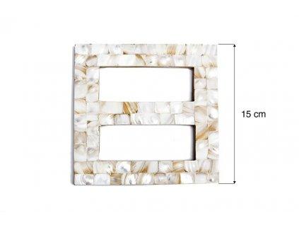 Dekorační ozdobná spona na závěsy AKELA krémová 15x15 cm Mybesthome