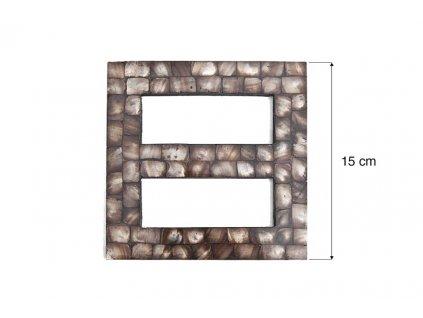 Dekorační ozdobná spona na závěsy AKELA hnědá 15x15 cm Mybesthome