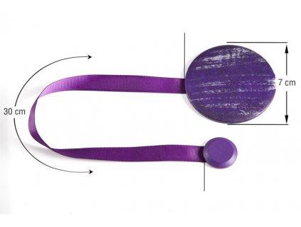 Dekorační ozdobná spona na závěsy s magnetem ANETTA Ø 7 cm Mybesthome
