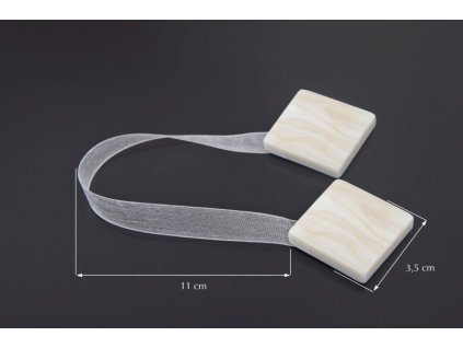 Dekorační ozdobná spona na závěsy s magnetem TAMAY krémová, 3,5x3,5 cm Mybesthome