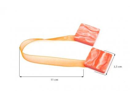 Dekorační ozdobná spona na závěsy s magnetem TAMAY oranžová, 3,5x3,5 cm Mybesthome