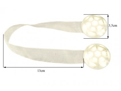Dekorační ozdobná spona na závěsy s magnetem STANKA krémová, Ø 3,5 cm Mybesthome cena je za 2 kusy v balení