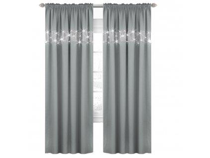 Dekorační závěs s řasící páskou LUXURY světle šedá 145x250 cm MyBestHome