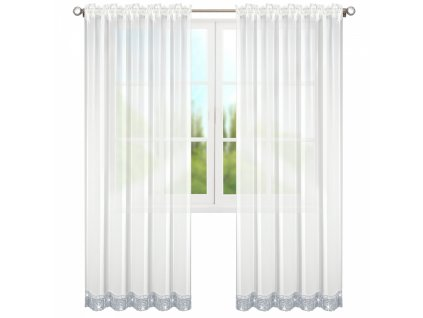 Dekorační záclona s řasící páskou AURELIE bílá 145x250 cm MyBestHome
