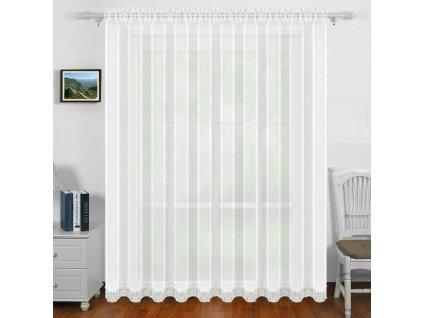 Dekorační záclona s řasící páskou EMILIE bílá 400x250 cm MyBestHome