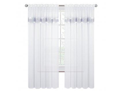 Dekorační záclona s řasící páskou CHRISTEL bílá 145x250 cm MyBestHome
