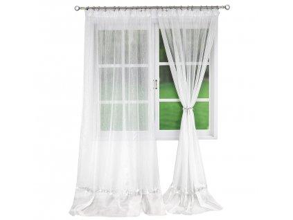 Dekorační záclona s řasící páskou CECILE bílá 150x250 cm MyBestHome