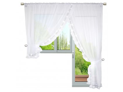 Dekorační balkonová záclona se zirkony ODETTE bílá 400x250 cm MyBestHome