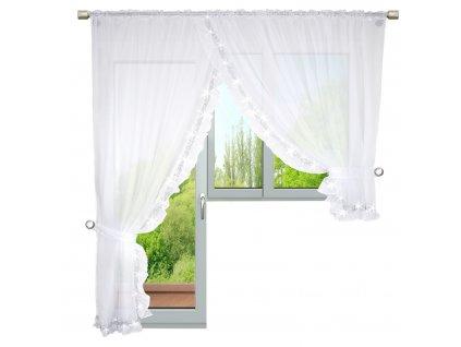 Dekorační balkonová záclona se zirkony ODETTE LE bílá 400x250 cm MyBestHome