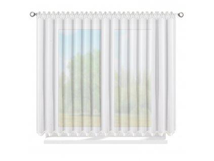 Dekorační krátká záclona se zirkony CHRISTELL bílá 400x150 cm MyBestHome