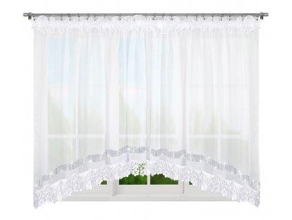 Dekorační krátká záclona se zirkony JOSETTE bílá 500x165 cm MyBestHome