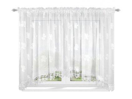 Dekorační krátká oblouková záclona RENEE bílá 400x160 cm MyBestHome