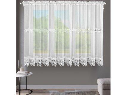 Dekorační krátká záclona MICHELLE bílá 400x170 cm MyBestHome