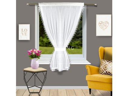 Dekorační krátká záclona DOLORES bílá 100x160 cm MyBestHome