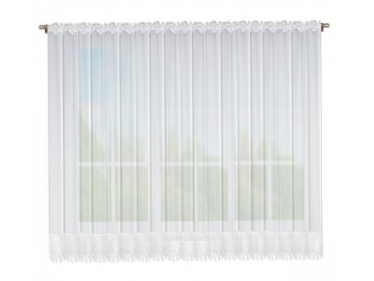 Dekorační krátká záclona LISA bílá 400x175 cm MyBestHome