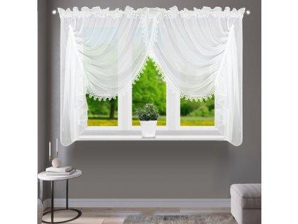 Dekorační krátká záclona se CATERINA bílá 400x150 cm MyBestHome