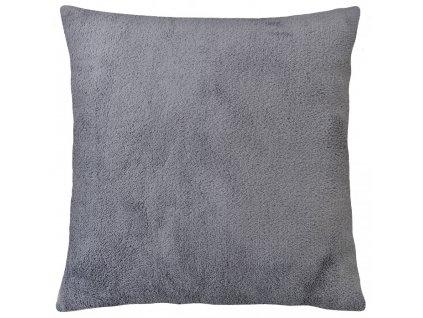 Polštář HOUSTON tmavě šedá, 40x40 cm mikrovlákno, ESSEX