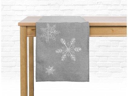 Ubrus - běhoun na stůl SNOW MIST 40x140 cm, světle šedá, ESSEX