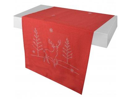 Ubrus - běhoun na stůl CELINE 40x140 cm, červená, ESSEX