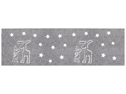 Filcový běhoun na stůl CHRISTMAS IV. šedá 30x100 cm MyBestHome