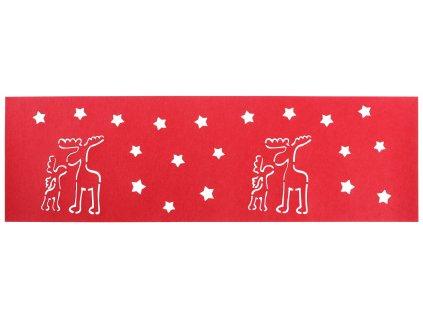Filcový běhoun na stůl CHRISTMAS IV. červená 30x100 cm MyBestHome