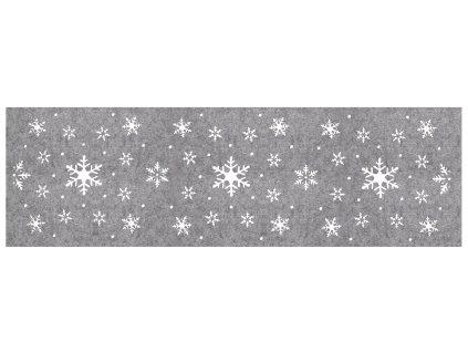 Filcový běhoun na stůl CHRISTMAS V. šedá 30x100 cm MyBestHome