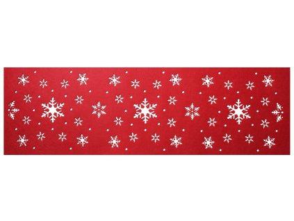 Filcový běhoun na stůl CHRISTMAS V. červená 30x100 cm MyBestHome