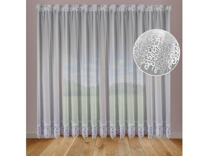 Dekorační dlouhá záclona CAMILA bílá 600x250 cm MyBestHome
