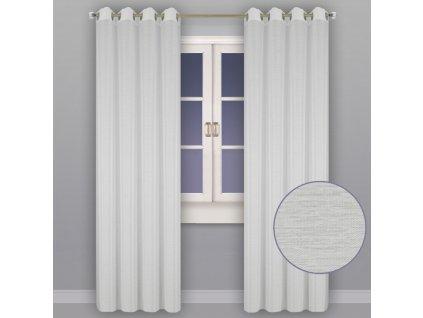 Dekorační záclona CHIARRA bílá s kroužky 150x250 cm MyBestHome