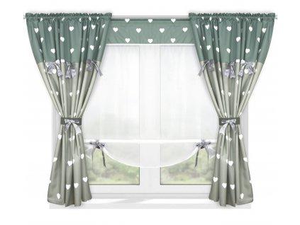 Dekorační závěsy AGNES šedá/hnědá 2 kusy 145x160 cm s voálovým panelem 130x145 cm MyBestHome